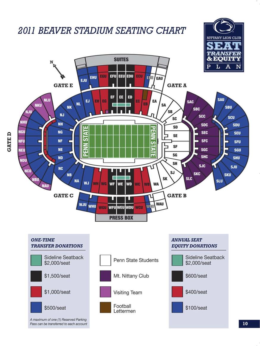 2011 beaver stadium seating plan revealed onward state
