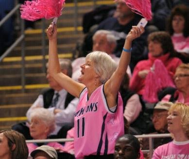 Pink Zone Bball Fan