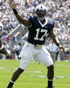 Former Penn State quarterback signed with Washington Redskins yesterday.