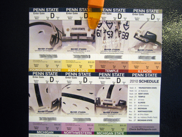 2010 Season Tickets