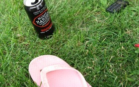 Summer, alcohol, flip flop