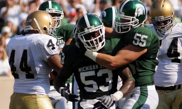 At 6-foot-1, 240 pounds, Greg Jones is considered the best linebacker in the Big Ten