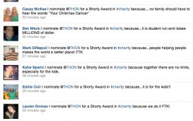 THON Shorty Award screenshot