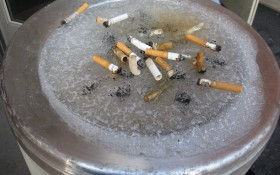 Low temperatures can even freeze cigarette butts to the ashtray.