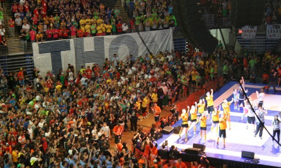 THON 2011 Line Dancers on Stage