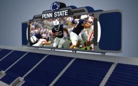 Beaver Stadium HD Scoreboard Vidoescreens