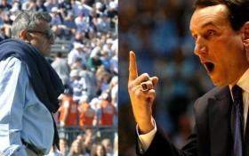 Joe Paterno and Coach K