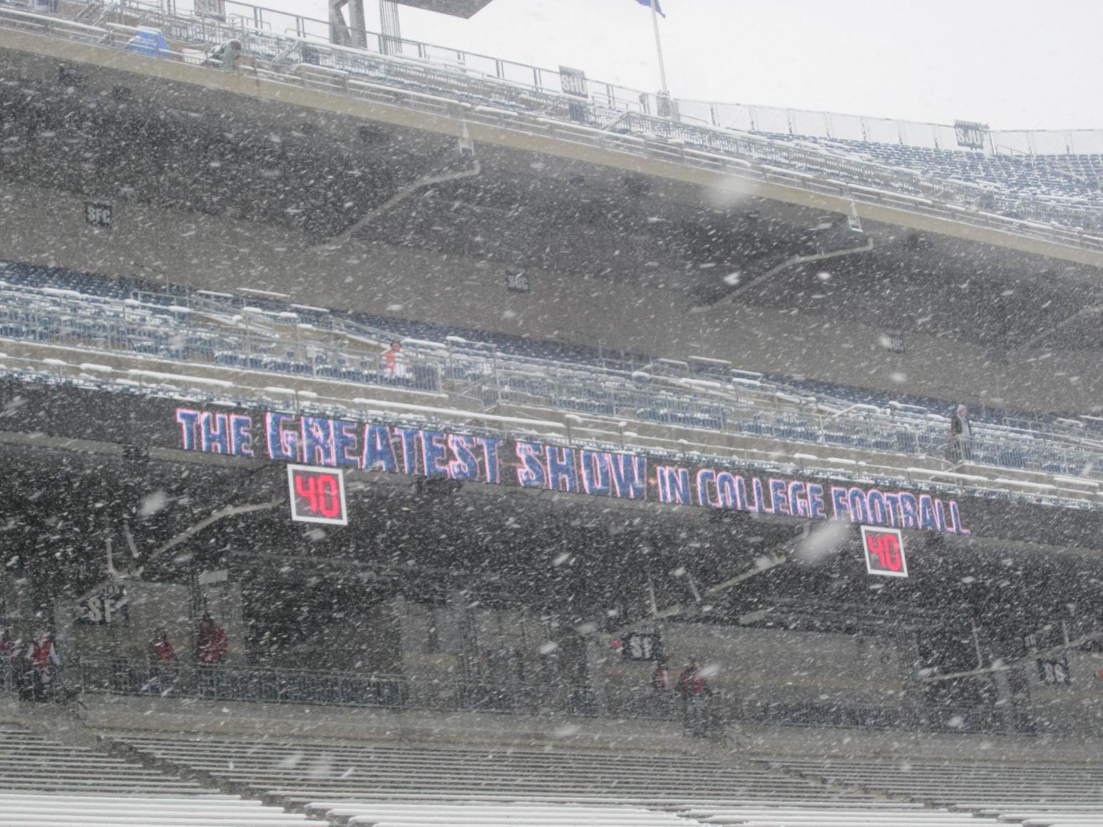 Beaver Stadium snow