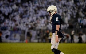 mcgloin walks off of the field