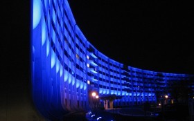 Hershey Med Center in Blue