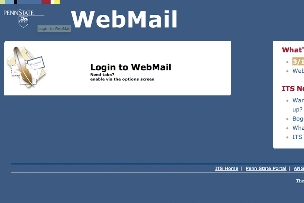 Penn State WebAccess Currently Unavailable University-Wide