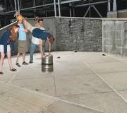 Keg Stand at Joe Paterno Statue