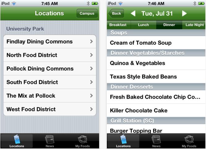 Dining Hall App