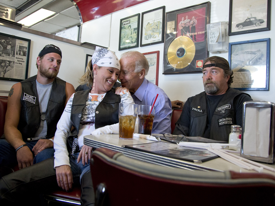 biden with bikers