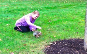 mary with squirrel