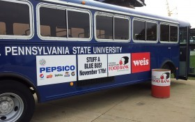 Blue Bus-Food Bank drive