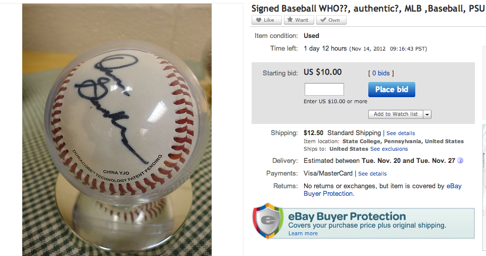 Unknown Baseball