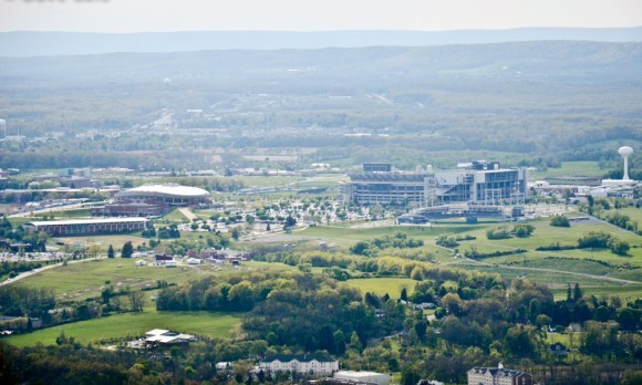 View of Happy Valley, Penn State