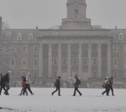 Old Main Snow