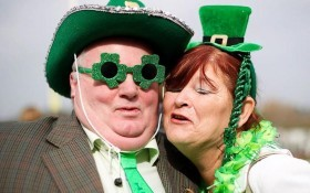 Spectators get into the spirit of St Pat