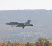 Airborne, the pilots head back to base on a beautiful Sunday October morning in Happy Valley.