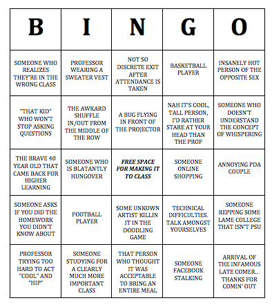 how to play bingo in class