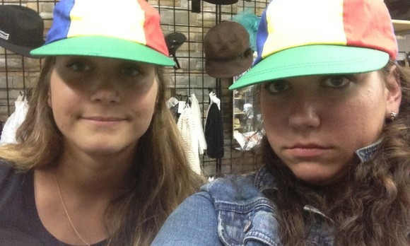 Pinwheel Hat selfies (required upon entrance)
