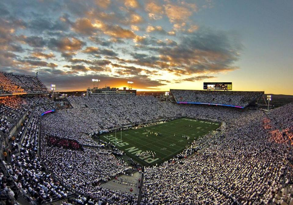 Night games at beaver stadium onward state for Beaver stadium wall mural