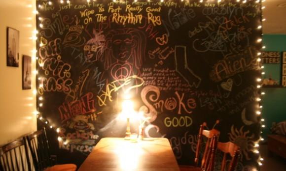 chalkboard wall apartment
