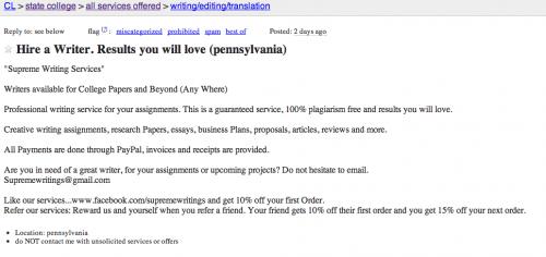 write my paper craigslist