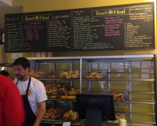 Bagel Crust Menu Board