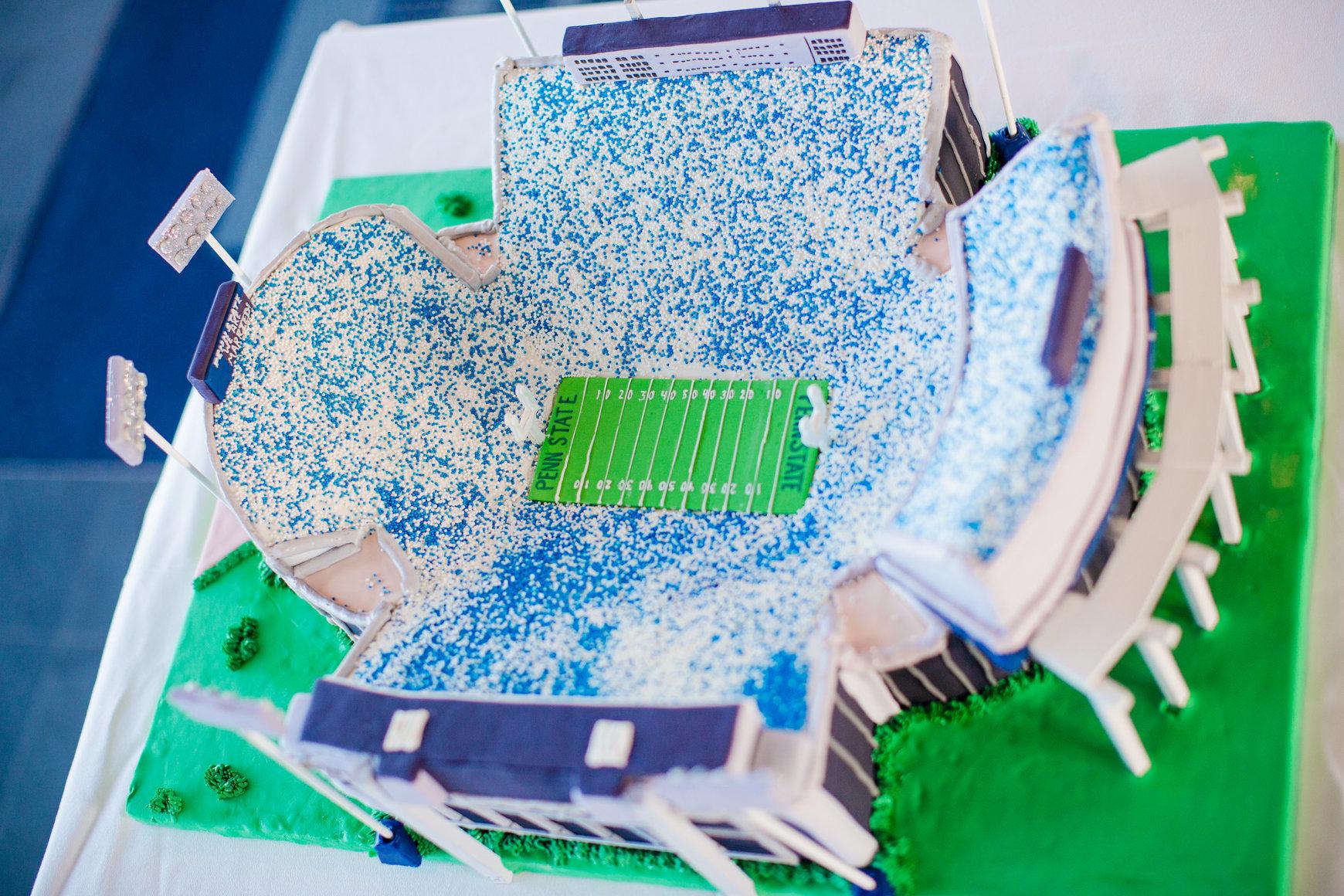 Penn State Cake Topper Wedding