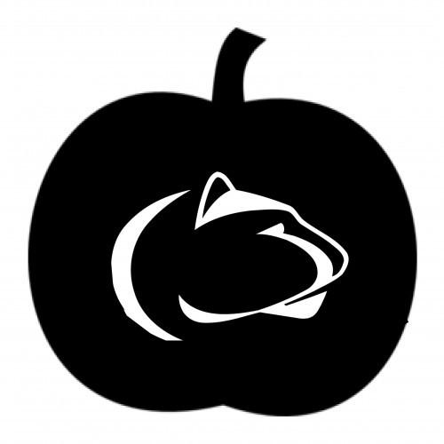 halloween penn state pumpkin carving stencils Penn State Logo Coloring Pages Penn State Face Stencil