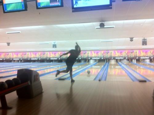 Megan Huhn bowling