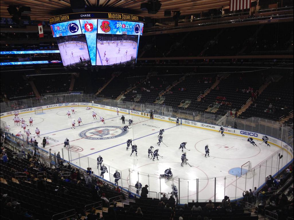 Penn state hockey falls to cornell at madison square garden onward state for Madison square garden employment