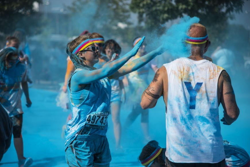 Color Run Featured Blue Stock