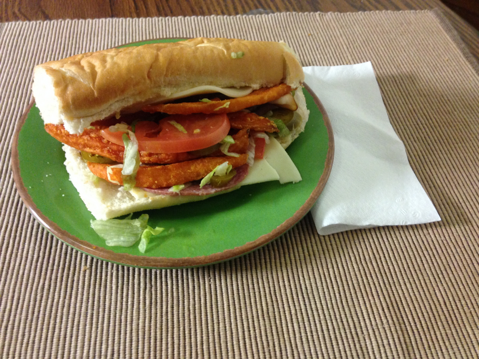Calories in primanti brothers fish sandwich for Fish sandwich calories