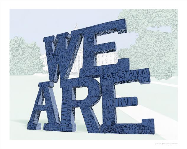 409 Penn State Football Joe Paterno Art Print Poster