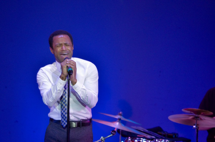 "Alan Wiggins sings ""If I Could Feel"" at last nights performance. Wiggins was cast in ""The Lion King"" in 2012"