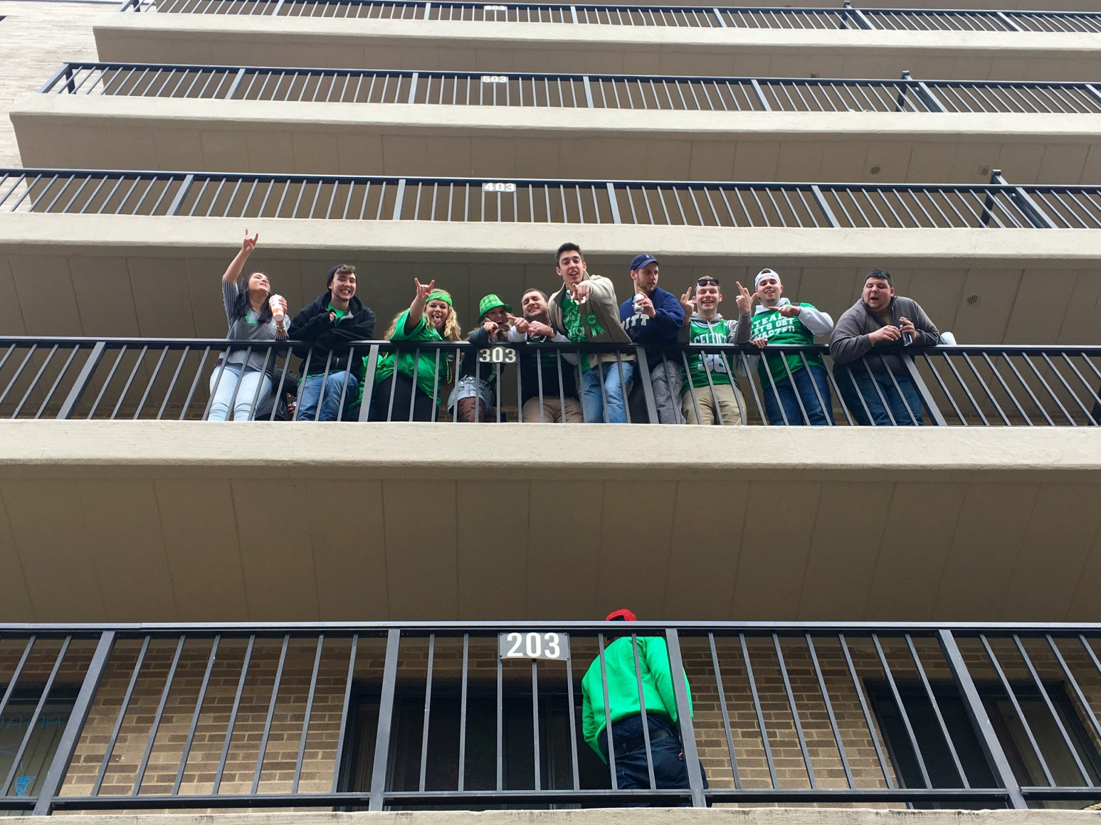 State Patty's Day Balcony Stock