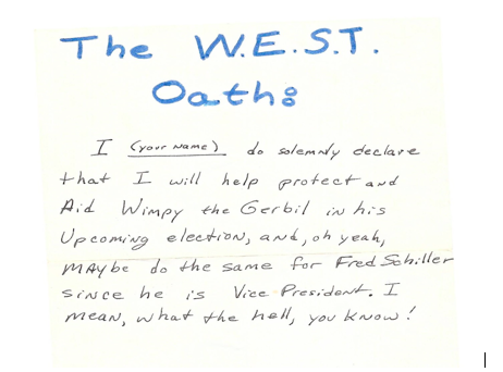 The original albeit revised WEST oath affirmed by the author.