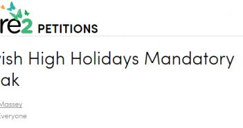 Jewish High Holiday Petition