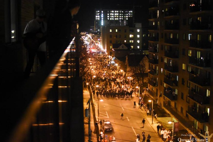 big ten championship riot rally 2016