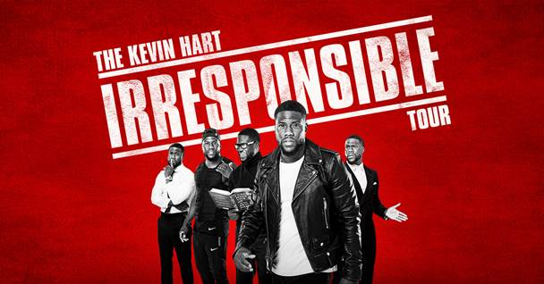 Kevin Hart has just announced an Irish date on his Irresponsible Tour