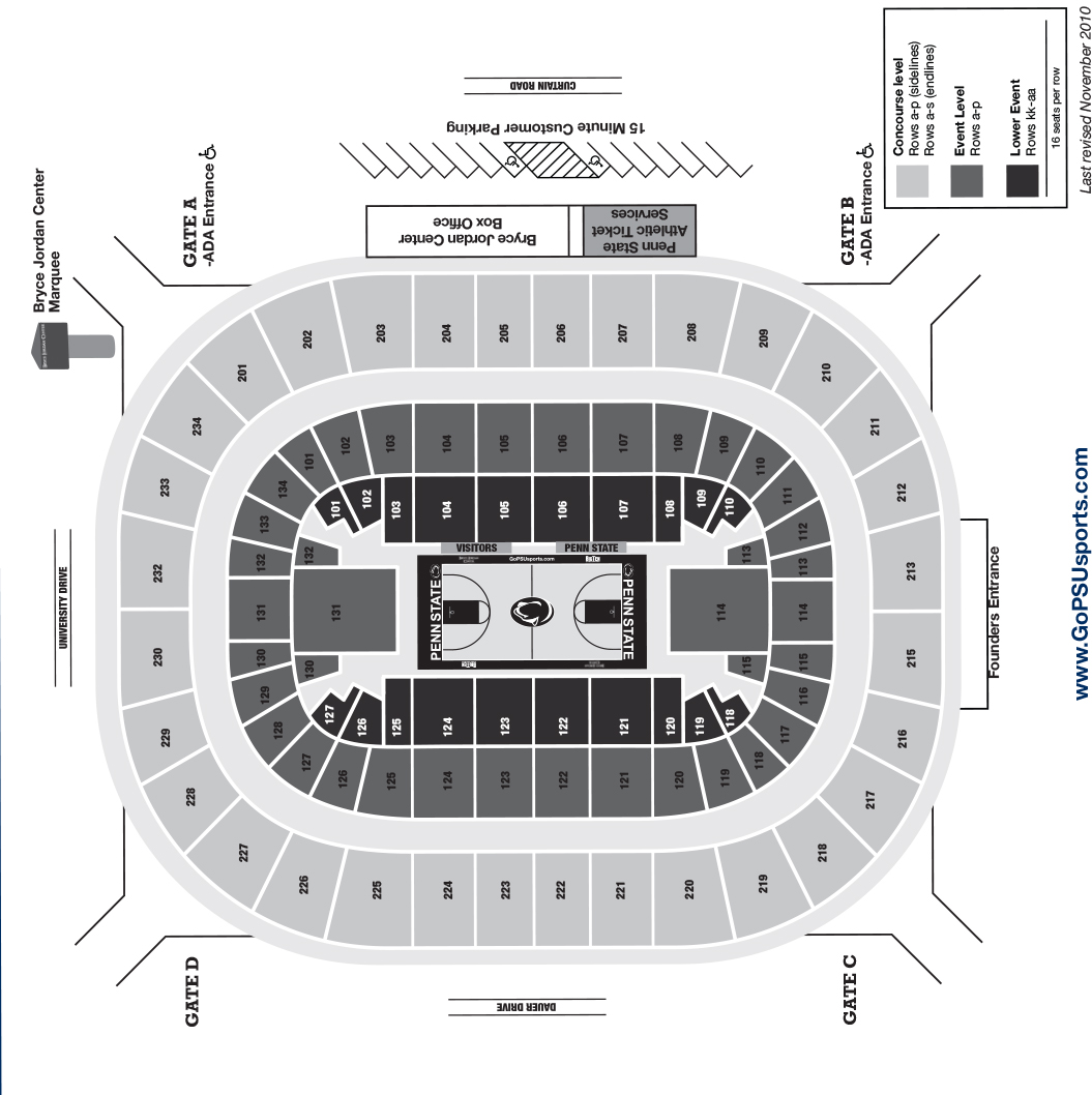 Where is my org your thon 2018 guide to the bjc arena onward state